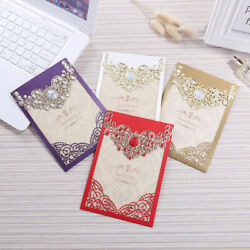 Exquisite Laser Cut Hollow Wedding Invitation Card Hotel Business Greeting Cards