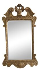 F31218ec Vintage Chippendale Style Gold Framed Mirror