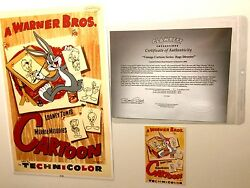 Bugs Bunny Cel Warner Brothers Bugs Director Rare Number 1 Edition Cell Art