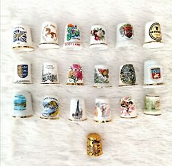 Thimbles - Bone China Porcelain And Metal Collectables Including Royal Doulton
