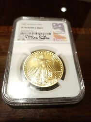 1987 W. Eagle G50 Pf70 Ultra Cameo Signed By Mike Castle