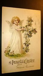 Antique Easter Post Card - Embossed. Stamped. 1901