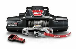 Zeon 10-s Platinum 10000 Warn Winch Hawse Fairlead 100and039 3/8 Synthetic Rope 92815