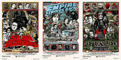 Star wars by Tyler Stout - Regular - Set of 3 prints - Rare Sold out Mondo print