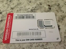 New Net10 3 In1 Sim Card For Compatible With A Used Verizon Lte Phone