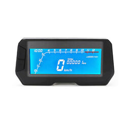12v Motorcycle Modification Instrument Blue Background Speed Meter Odometer Kph