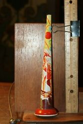 Vintage 1950's Tin Litho Horn Noise Maker Pretty Sexy Woman Girl