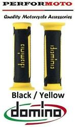 Domino A350 Grips Black / Yellow To Fit Moto Guzzi 1100 Quota Es