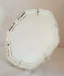 Antique Sterling Silver Tray / Salver . Sheffield 1927.by Walker And Hall