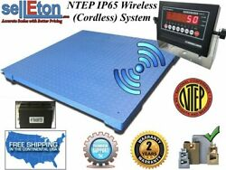 New Ntep Floor Scale 48 X 72 4and039 X 6and039 Wireless Cordless 10000 Lbs X 2 Lb