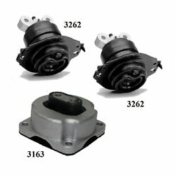 3 Pcs Motor And Trans Mount Fit 2018-2019 Fits Dodge Charger 5.7l 2wd And 3.6l -