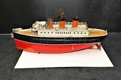 Bing Hms Kinever 1920-30and039s Liner Mechanical Motor In Good Working Order