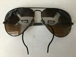 1980s GRAIL RARE PROTOTYPE B&L Ray-Ban Half Ear Wrap Aviator 62[]14 Sunglasses