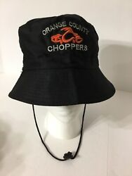 Men's Bucket Hat Orange County Choppers Black Boonie Embroidered Cap Fishing