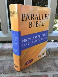 Large Print Nkjv And Classic Amplified 1987 Ampc Parallel Bible Hardcover