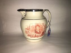 La3 Staffordshire War Of 1812 Pitcher Commodore Perry Captain Pike 1815