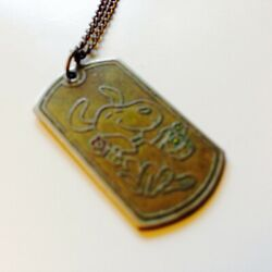 Rear And Collectable Vintage Snoopy Necklace