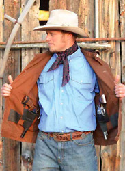 Wyoming Traders Mens Chisum Button Up Concealed Carry Canvas Western Jacket