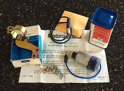 Nos Ford Kkx 1970 Boss 429 Blue-wire Solenoid And Nos Bracket And Rare Jumper Wire