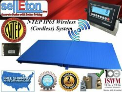 Ntep Floor Scale 48 X 60 4and039 X 5and039 Wireless Cordless 1 Ramp 5000 Lbs X1 Lb
