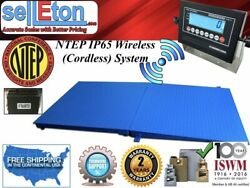 Ntep Floor Scale 48 X 60 4and039 X 5and039 Wireless Cordless 1 Ramp 10000 Lbs X 2 Lb