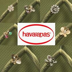 Original Havaianas SLIM Green Camo Crystal Or Personalized Crystal Charms