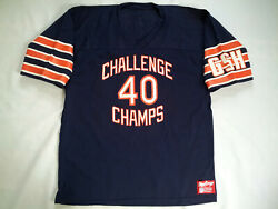 Vintage Rare Made In Usa Rawlings Chicago Bears Challenge 40 Champs Jersey Xl