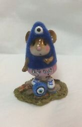 Wee Forest Folk Special Blue Event Custom Monster With Eyeball Sold Out