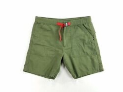 Topo Designs Mens Casual Climbing Shorts Pure Cotton Hunter Green sz L