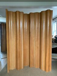 Early (1946-55) Eames 6 Panel Screen FSW-6 Calico Ash with Canvas 1st Generation