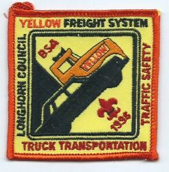 Yellow Freight Driver Patch Sponsored Bsa 1996 Traffic Safety Longhorn Council