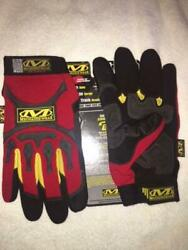 Mechanix Wear Mpact Gloves- Red- Medium- 10 Pack- Close Outs