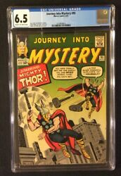 Journey Into Mystery 95 Comic Cgc 6.5 Marvel 1963 Silver Age Mighty Thor Kirby