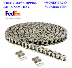 35np Nickel Plated Roller Chain 10 Feet With 2 Connecting Links Anti-corrosion