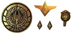 Battlestar Galactica Colonel Rank And Senior Officer Uniform Pins And Patch Set