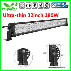 Uitra-thin 32inch 180w Led Work Light Bar For Offroad Truck Jeep Car Suv Ute 4wd