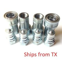 1/2 Npt Iso 7241-1 Series A Quick Disconnect Hydraulic Couplings Set Of 4