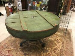 Antique Wooden Table Shipping Crate Iron Machine Stand Base Shipping Available