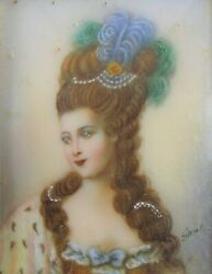Signed Portrait Queen Marie-antoinette After Painting By Madame Vigee Lebrun