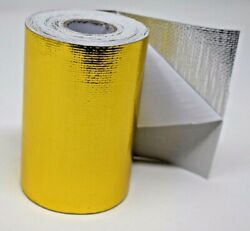 Giant Gold Reflective Thermal Heat Shield Tape Protect 4and039and039x15and039 Roll Turbo Engine