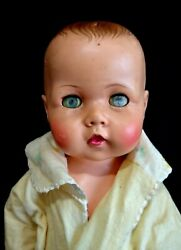 Antique 21 70 Yr Old Baby Doll Rubber Eyes Close Open Looks Real Nice And Htf