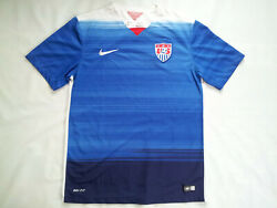 2015 Nike Dri Fit Us National Soccer Team Authentic Jersey In Size M