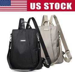 Women Lady Backpack School Bag Purse Anti Theft Waterproof Oxford Cloth Rucksack $12.08
