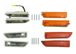 Pg Classic 215-blkit 1970-71 Dodge Challenger Front And Rear Side Marker Assembly
