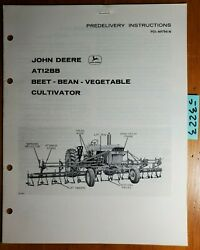 John Deere At12bb Beet Bean Vegetable Cultivator Predelivery Instructions Manual