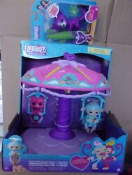 Fingerlings Twirl-a-whirl Carousel Playset W/ Abigail Baby Monkey And Sarah Fox
