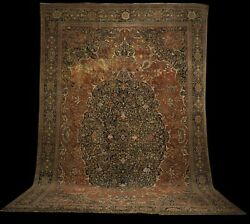 Palace Size Exceptional Antique Pershian Farahan Rug 23 X13and039