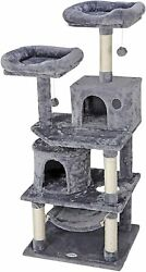 57quot; STURDY Cat Tree Tower Activity Center Large Playing House Condo For Rest