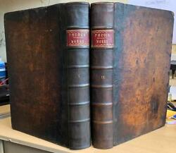 Rare 1740 Two Folio Vols 'theological Works Of Edward Pocock' Bible Commentary