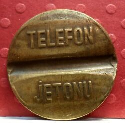 Telephone Token From Turkish Post Telephone And Telegraph T-160